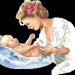 une mère chante pour son enfant