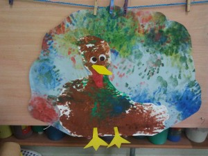 Dinde de Thanksgiving en peinture