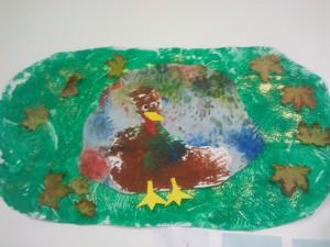 Peinture à la main d'une dinde de Thanksgiving