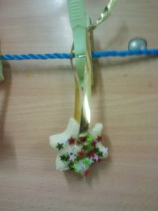 étoile de noel pour décorer le sapin en pâte à sel