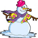 bonhomme de neige avec une pipe