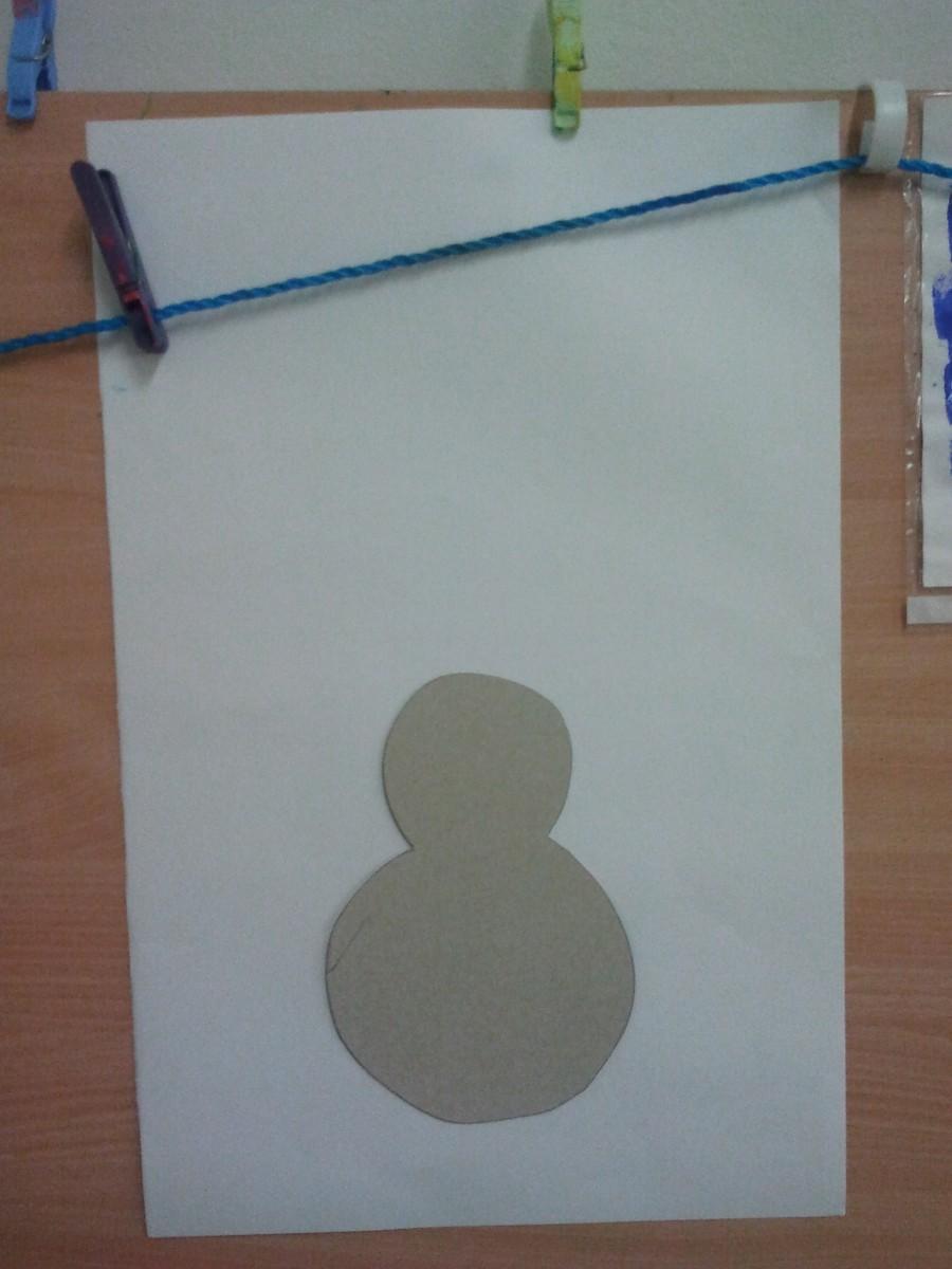 Tableau d hiver avec bonhomme de neige education - Modele bonhomme de neige ...