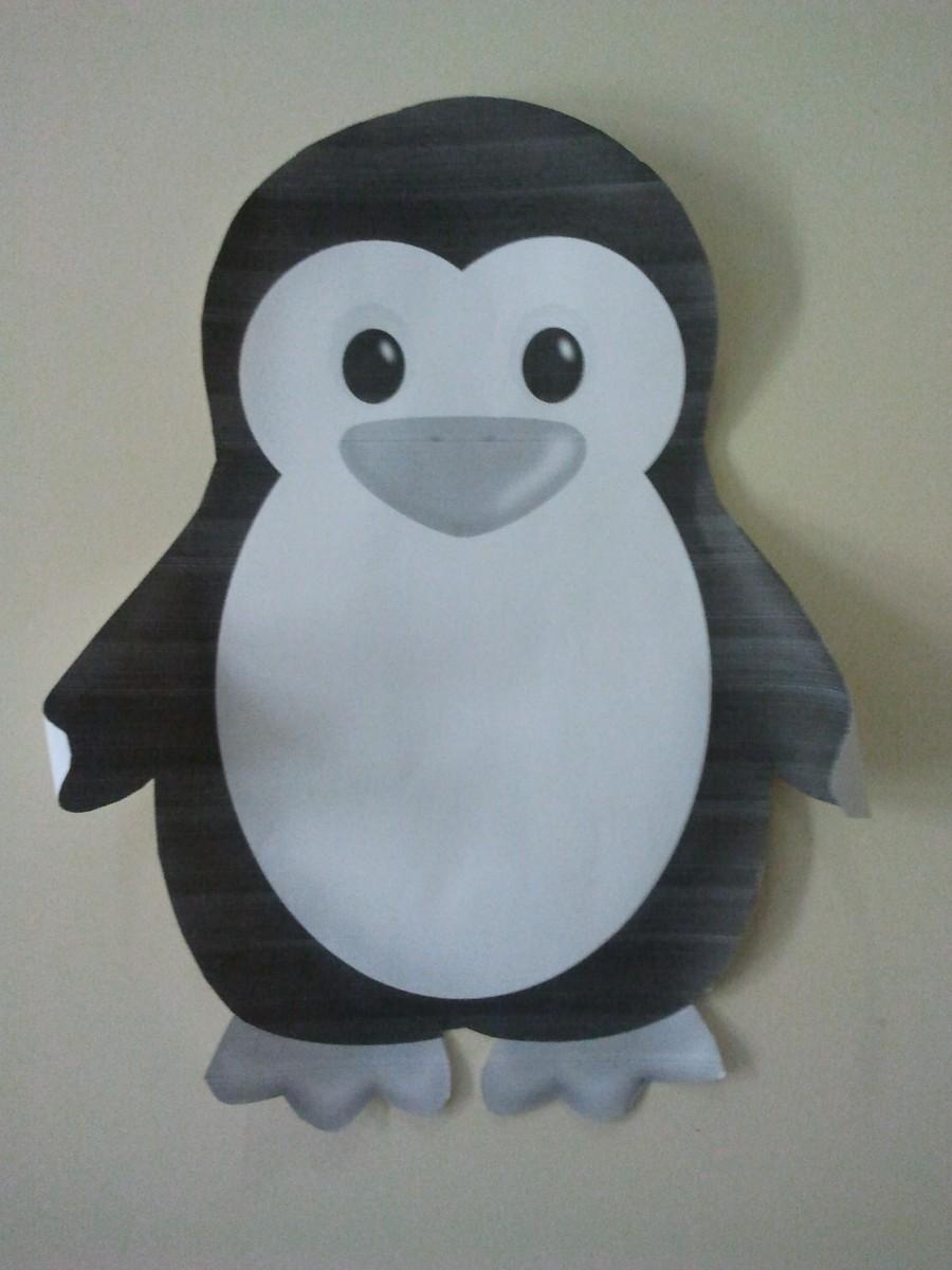 Mod le de pingouin education for Decoration porte pingouin