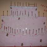 activité manuelle de création d'un gâteau d anniversaire en carton