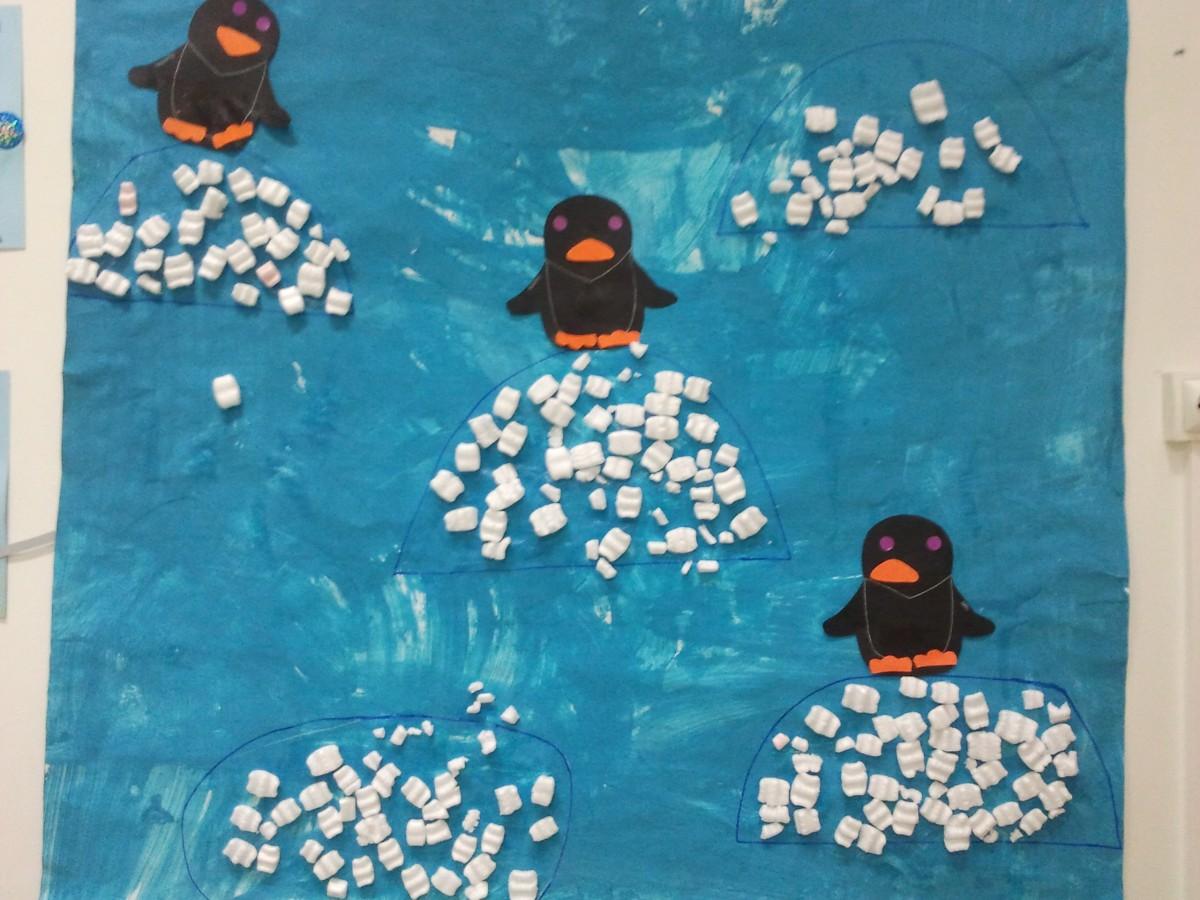 Activité manuelle de pingouins sur la banquise