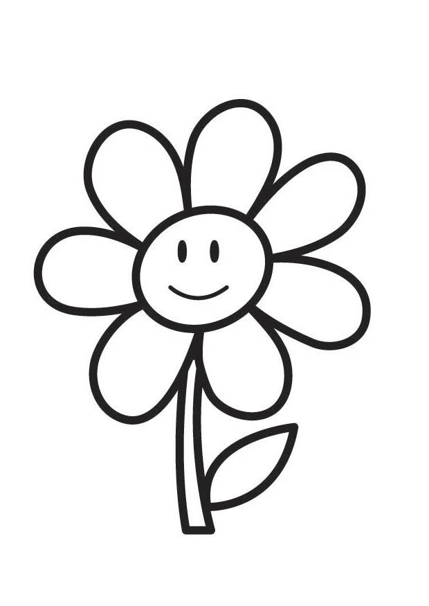 Activité de printemps: coloriage d'une fleur