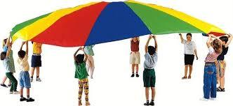 Le parachute géant (Dès 2 ans et demi)
