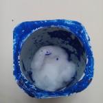 petit nid douillet en coton recouvrant les lentilles