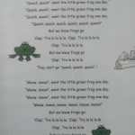 song the little green frog