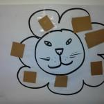 crinière du lion activité manuelle de collage