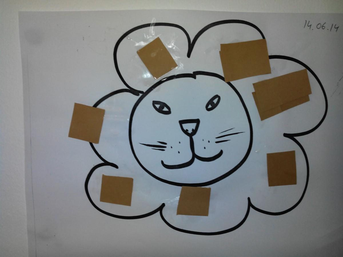 activité manuelle collage lion (à partir de 2 ans) – education