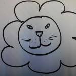 modèle de dessin de lion