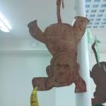 activité manuelle peinture les singes dans la jungle