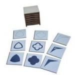 cartes du cabinet de géométrie Montessori