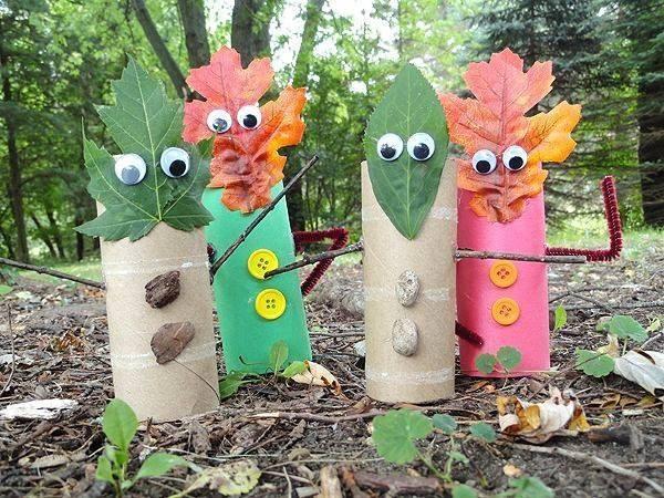 Bonhommes rigolos d'automne à fabriquer