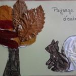 Paysage d'automne à réaliser-écureuil