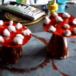 Activité manuelle d'automne fabriquer un champignon