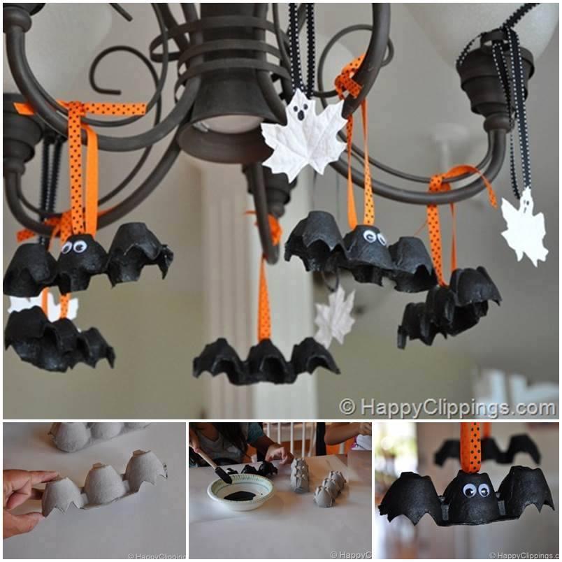 Halloween-chauve-souris en recyclage Halloween-citrouilles avec ...