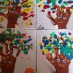 Jolis arbres en peinture