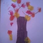 arbre d'automne en peinture
