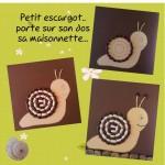 petit escargot à fabriquer avec des haricots et sa comptine