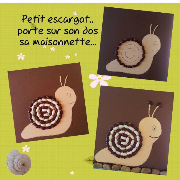 d6691569b38 ... septembre · petit escargot à fabriquer avec des haricots et sa comptine