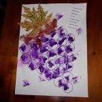 peindre une grappe de raisin et son poème