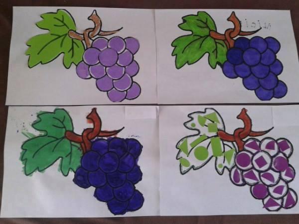 Activité manuelle pour décorer des grappes de raisin