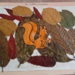 écureuil et fond d'automne