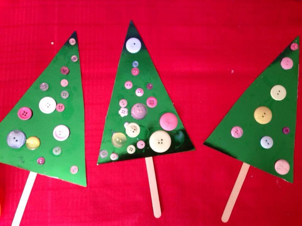 Noel- Sapins de noel à fabriquer (Dès 3 ans)
