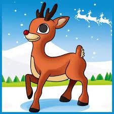 Chanson enfantine d'hiver- Le petit renne au nez rouge