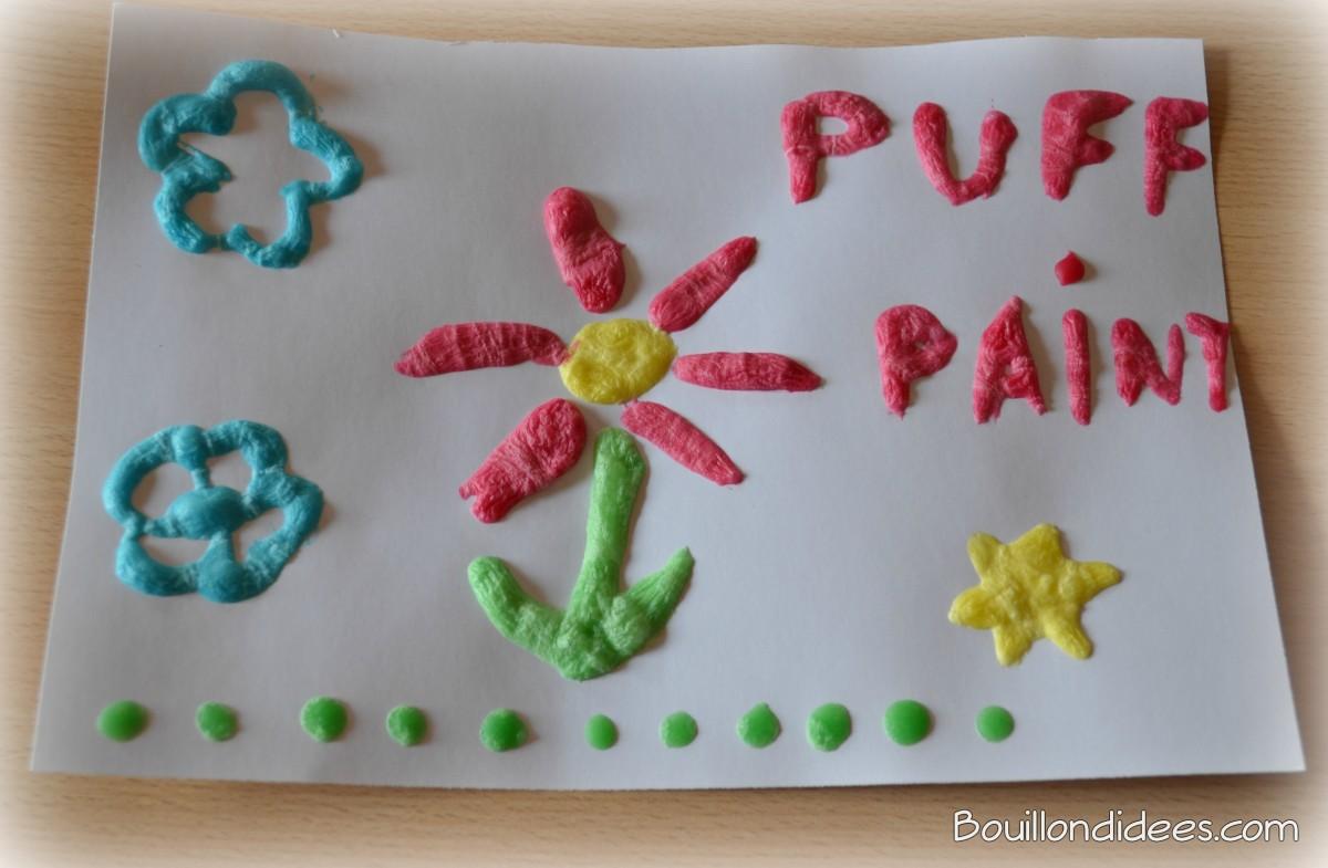 La « Puff Paint », la peinture qui gonfle au micro-ondes!
