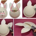 Activité pour paques-panier en forme de lapin