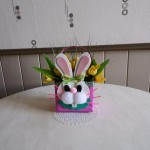 Réaliser un beau petit panier de paques en forme de lapin