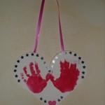 Activité manuelle peinture cœur fête des pères