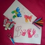 Activité manuelle de peinture saint valentin ou fête des mères(Dès 1 an et demi)