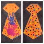 Cadeau fête des pères- Une cravate décorée de gommettes