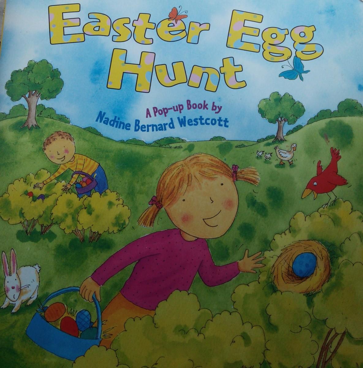 Histoire enfantine anglaise pour Pâques- Easter Egg Hunt – pop-up book (Dès 2 ans et demi)