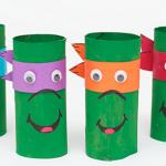 Tortue Ninja à fabriquer avec des rouleaux de papier toilette
