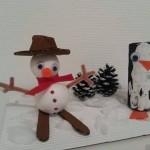 Bonhommes de neige à réaliser