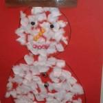 Bonhomme de neige à décorer