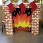fabriquer une cheminée en carton pour les enfants