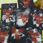 Petits rennes en peinture