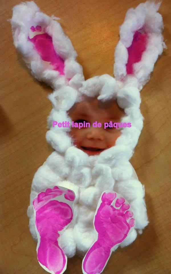 Petit lapin de pâques en coton à réaliser