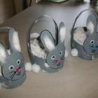 Petits lapins gris de pâques à réaliser (Dès 2 ans et demi)