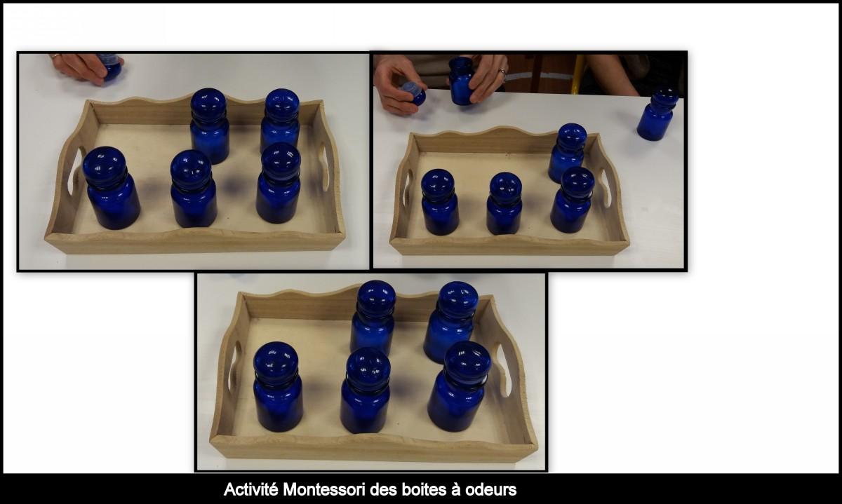 les boites à odeur Montessori