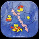 Activité manuelle de printemps de collage sur un papillon