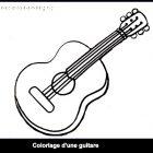 Coloriage d'une guitare