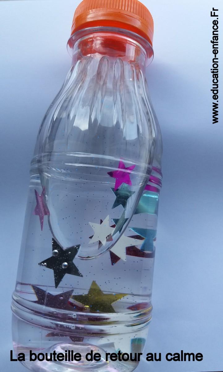 Fabriquer une bouteille de retour au calme(utilisée dans la pédagogie Montessori)