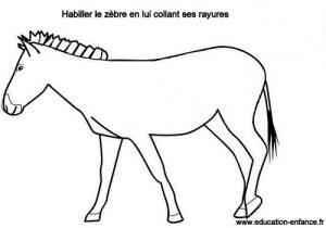 Activit manuelle de collage pour enfant coller les - Zebre a dessiner ...